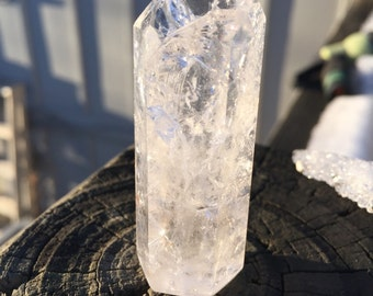 Fire and Ice Quartz Crystal