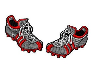 Soccer Cleats Machine Embroidery Design 2 sizes