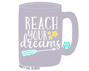 Reach Your Dreams svg\dxf\png\eps - Reach For The Stars - Inspiration Quote - Arrow - Cricut - Silhouette - Instant Download