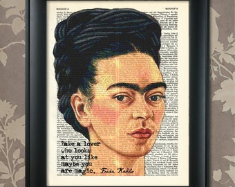 Frida Kahlo, Self Portrait, Frida Kahlo print, Frida Kahlo quote, Frida Kahlo art, Frida Kahlo poster, Frida Kahlo wall art, Mexican Painter