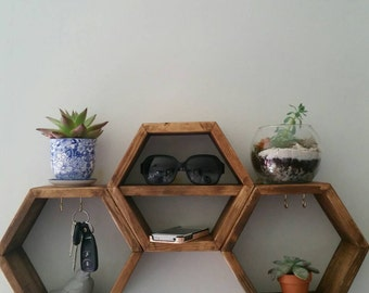 Hexagon Key Holder Shelf
