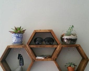 Hexagon Key Holder Shelf