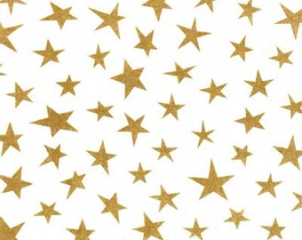 "Gold Stars on White Tissue Paper # 253 --- 50th Anniversary, Wedding -  10 large sheets - 20"" x 30"""