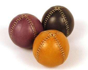 Set of 3 leather juggling balls, 75mm diameter, Juggling set, Juggling balls, Yellow, Violet, Black, Learn to juggling, Juggler, Circus