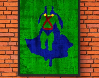 Minimalism Art - Martian Manhunter Print