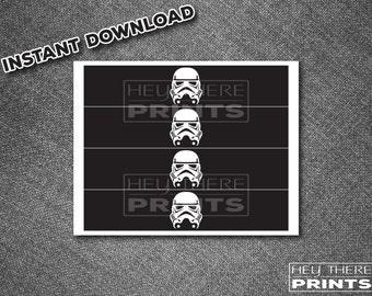 Star Wars - Storm Trooper Drink Labels - Darth Vader