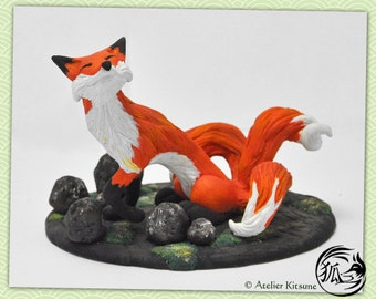 Kitsune Fox figurine