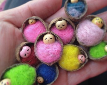 Teeny tiny walnut shell babies