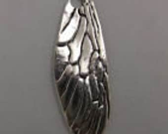 silver dragonfly wing charms 2 charms