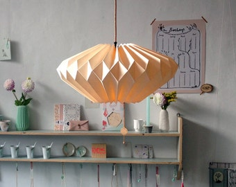 Origami paper lampshade: Lydia Ivory