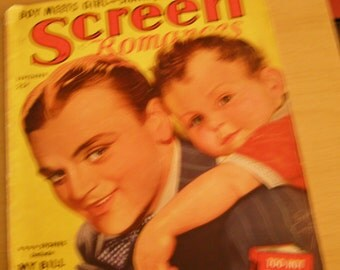 Screen Romances Magazine Sept.1938 James Cagney & Baby Clark - Boy Meets Girl