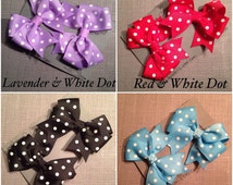 Pony O Bow with Tails, on pony tail, Different Colors, prints available, Pony tail, Piggie Bows, Hair Accessory, Sweet Shoppe Candy hairbow