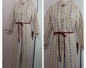 15% OFF Vintage Granny Jammies / Adult Onesie Pajamas / Women's Small