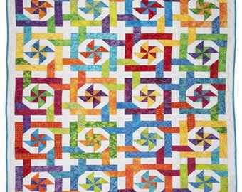 Pinwheel Paradise Quilt Pattern Download (802707)