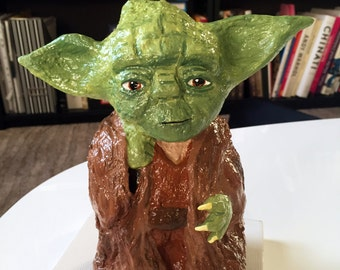 Master Yoda parody, solid garden gnome, Gartenzwerg, 8 inches, 20cm, inspired by Star Wars