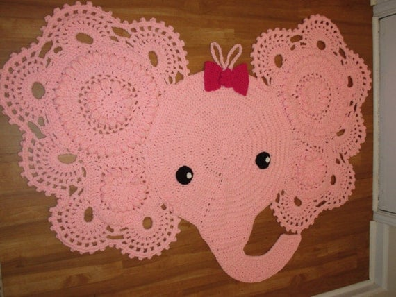 Crochet Elephant Rug Made-To-Order Baby by CreativeCrochetions