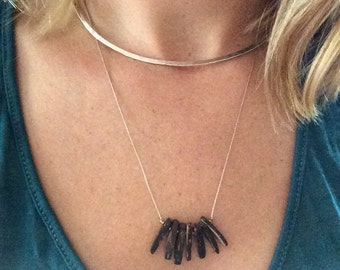 Coconut wood beaded necklace