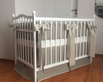 Nursery bedding set /// Bumper and crib skirt, Crib bedding, Nursery bedding, Cot bedding