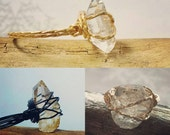 Herkimer Diamond Ring, Minimalist Promise Ring, April Birthstone, Unique Engagement Ring, Wire Wrapped Raw Stone Jewellery, Healing Crystals
