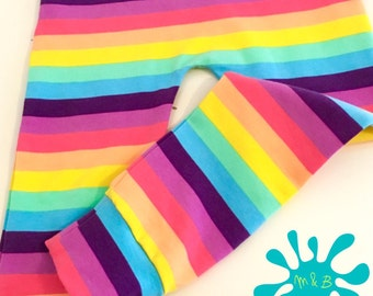 NEW rainbow baby leggings, rainbows, baby leggings, toddler leggings, toddler trousers, baby gift, baby pants, toddler pants, cloth diaper