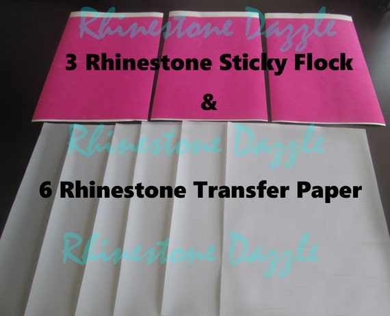 Rhinestone Bundle Of 3 Sticky Flock Template Material Sheets