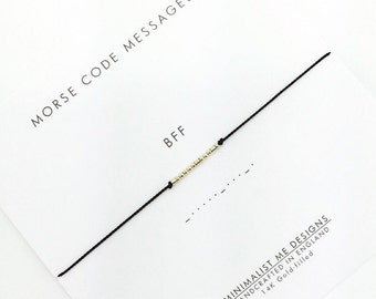 BFF Morse Code beacelet - perfect gift