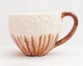 Big Ceramic Mug, Handmade Ceramic cup, Pottery tea cup, Pottery mug, Valentines day gift, Brown mug, Big cup, Big mug, Ceramic Tea Mug