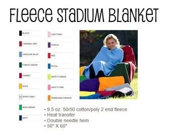 Gildan Stadium Blanket, All Colors, Blank (No Personalization)