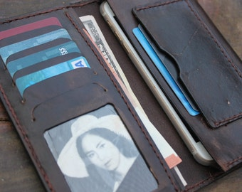 Men- Women Leather Wallet / Personalized Leather Wallet / Handmade Leather Wallet /Perfect gift for him / VD 0185