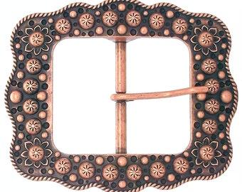 """Buckle 2"""" Copper Sunburst Flower 2676-10"""