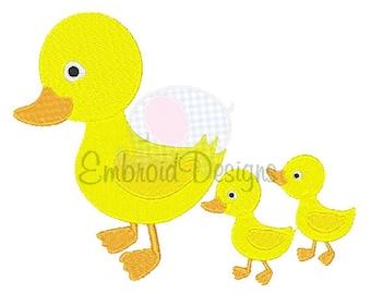 Ducks Machine Embroidery Design 025414 Filled Stitch 4X4 5X7 8X8 6X10 Instant download