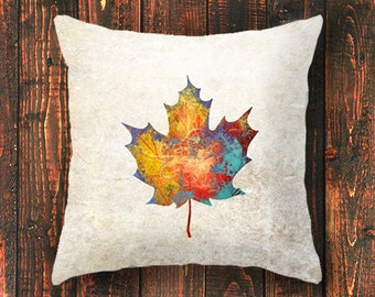Canada Day, Canada 150, pillowcase, canada pillow cover, maple leaf gift, forest pillow cover, leaves, cushion cover, gift for him gift idea