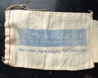 Vintage Dry Cleaning and Laundry Supply Small Bag