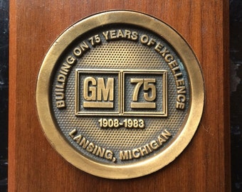General Motors 75th Year Commemerative Plaque