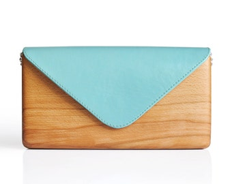 Lemnia Handcrafted Wooden Bag - Azzurra