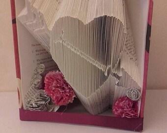 PATTERN #164 heart with arrow book folding pattern. 273 folds