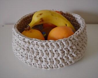 Handmade Crochet Basket - Storage Basket