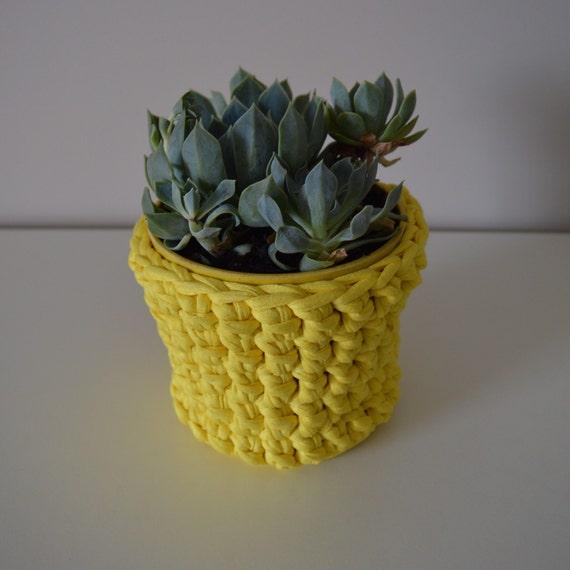 Handmade Crochet Basket : Handmade crochet basket plant holder by ashandkay on etsy