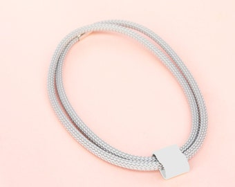 Industrial Necklace with Grey Feature