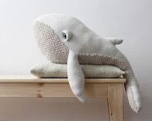 Big Albino Whale <O> Stuffed Animal <O> Plush Toy