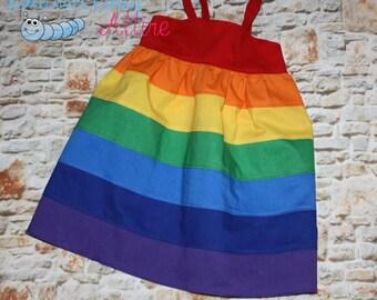 rainbow baby maxi dress red orange yellow green blue indigo violet purple