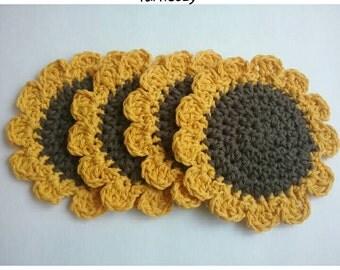 Farmhouse Kitchen Decor, Sunflower Coaster, Country Kitchen, Sunflower Decor, Housewarming Gift, Mom Birthday Gift, Kitchen Coasters