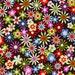 Michael Miller OOP Retro Floral Fabric - Flowers Aplenty C3490 in Java - 3/4 Yard