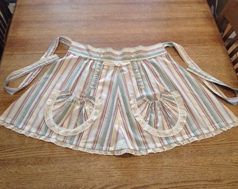 Apron Upcycled from Men's Dress Shirt