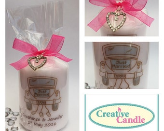 Personalised Wedding Gift Candle Small or Large