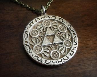 Legend of Zelda Ocarina of Time Triforce Six Sages Medallion Pendant