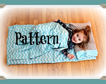 PDF Tutorial - Nap Mat Cover with Attached Blanket and separate pillow case - Pattern - Instant Download