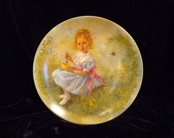 Little Miss Muffet Collector Plate by RECO, 1981, 5817R, Mother Goose Collection by John Mc Clelland