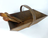 Vintage French Wooden Trug / Basket Home Decor