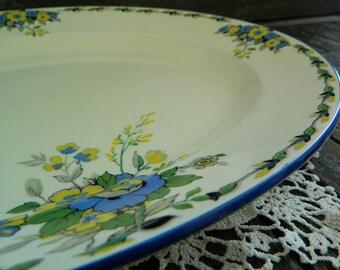Vintage Burgess & Leigh Burleigh Ware Oval Platter